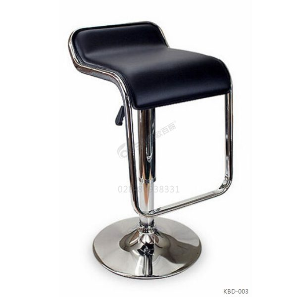 S形高脚吧凳皮面软座可升降