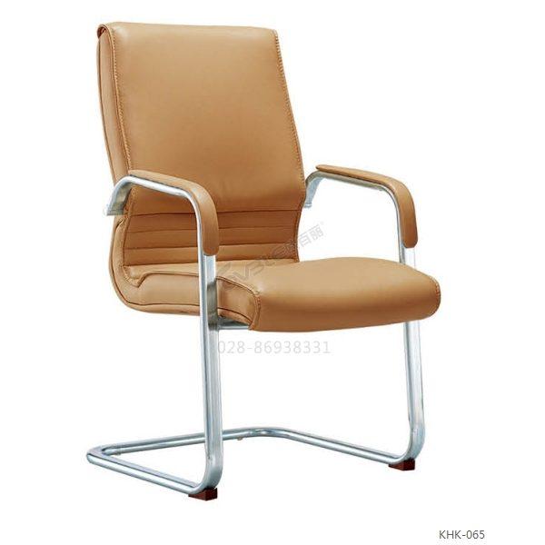 定做棕色会议椅 畅销牛皮弓形会议椅