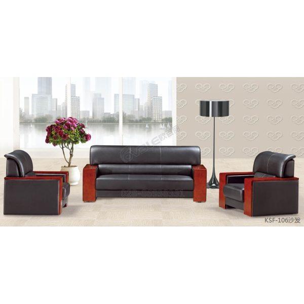 特价平扶手沙发 热销PU皮办公沙发