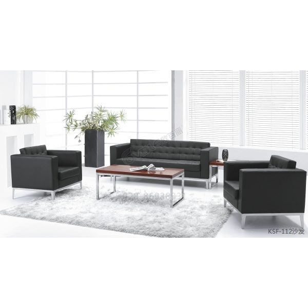 现代风格办公沙发 PU沙发套装